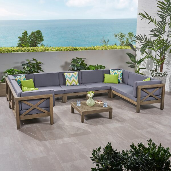 Sklar Outdoor 2 Piece Deep Seating Group with Cushions by Breakwater Bay
