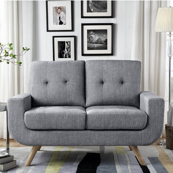 Modern Bilski Tufted Loveseat by Langley Street by Langley Street