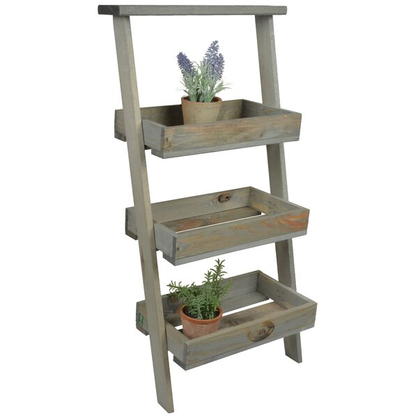 Wood Lean-To Step Plant Stand by EsschertDesign
