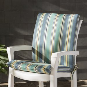 Aranmore Striped Mid-back Indoor/Outdoor Dining Chair Cushion (Set of 2)