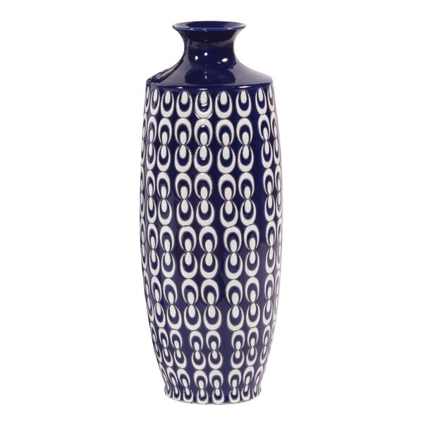 Textured Ceramic Vase by Canora Grey