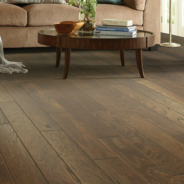 Victorian Hickory 4.8 Engineered Hickory Hardwood Flooring in Ginger by Shaw Floors