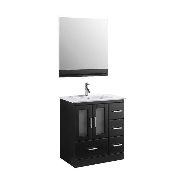 Mordecai 30 Single Bathroom Vanity Set with Mirror by Orren Ellis