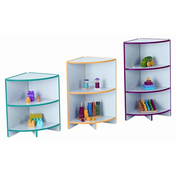 Kydzcurves Corner 2 Compartment Shelving Unit by Jonti-Craft
