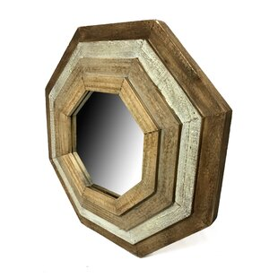 World Menagerie Hinkley Octagonal Wood Accent Mirror