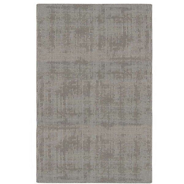 Nevada Hand-Woven Gray Area Rug by Calvin Klein