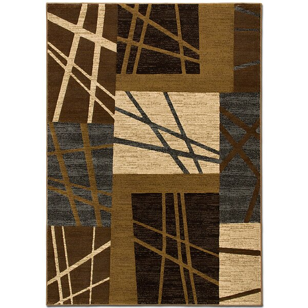 Lines Chocolate Area Rug by AllStar Rugs