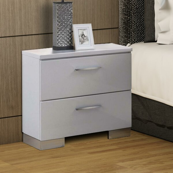 Apache Wooden 3 Drawer Nightstand by Orren Ellis