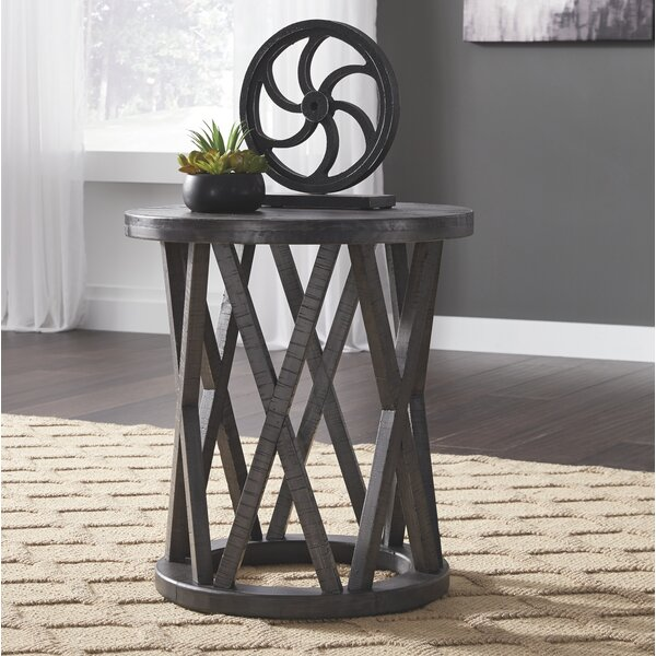 Quigley End Table by Gracie Oaks