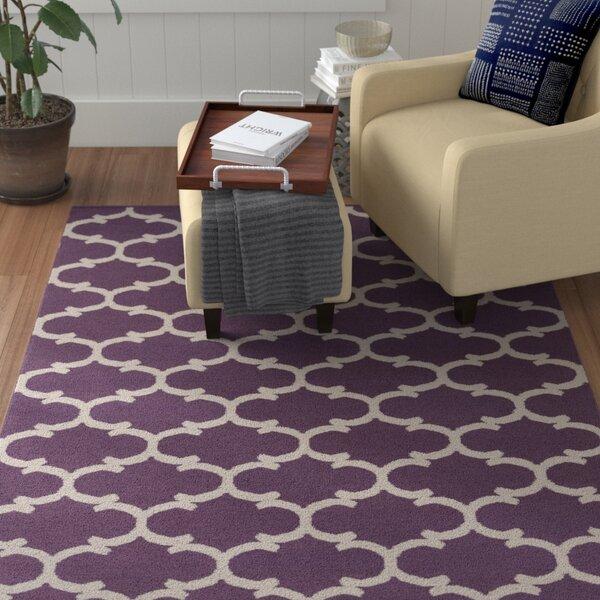 Ayles Light Purple/Ivory Area Rug by Winston Porter