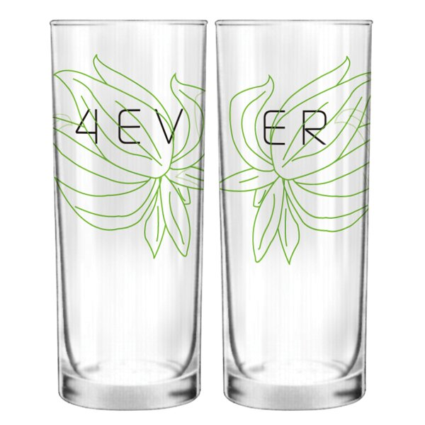 Forever Couple 13.5 oz. Drinking Glass (Set of 2) by BoldLoft