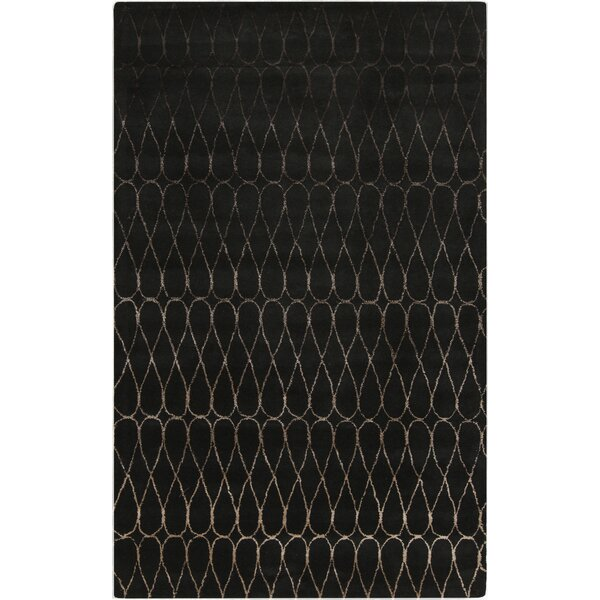Romola Geometric Charcoal Area Rug by Ivy Bronx