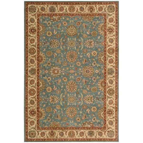 Crownover Teal Blue/Tan Area Rug by Darby Home Co