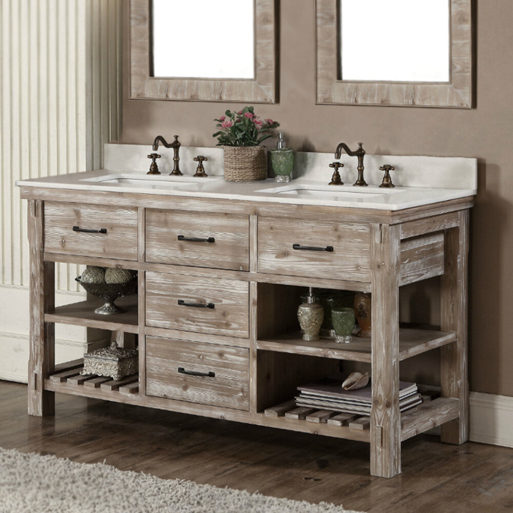 Clemmie 61 Double Bathroom Vanity Set