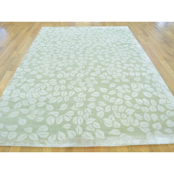 One-of-a-Kind Beverly Hand-Knotted Beige Wool/Silk Area Rug by Isabelline