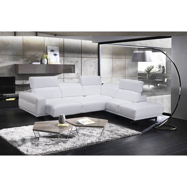 Shop Fashion Paulk Leather Sleeper Sectional by Orren Ellis by Orren Ellis