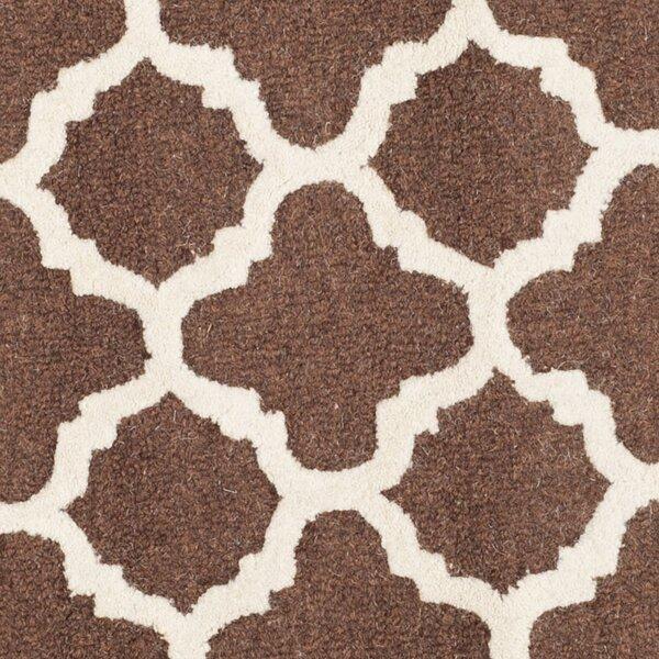 Darla Dark Brown/Ivory Trellis Area Rug by Winston Porter