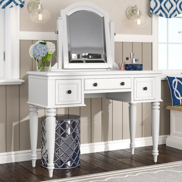 Harrison Vanity with Mirror by Beachcrest Home