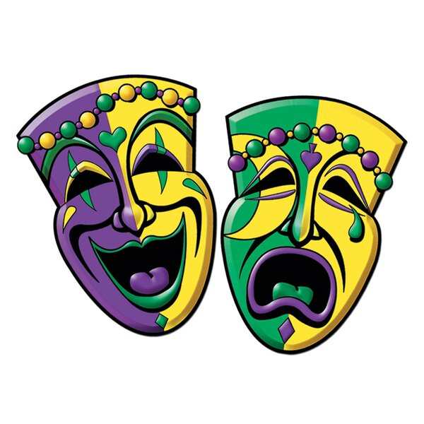 2 Piece Comedy and Tragedy Face Standup Set (Set of 3) by The Beistle Company