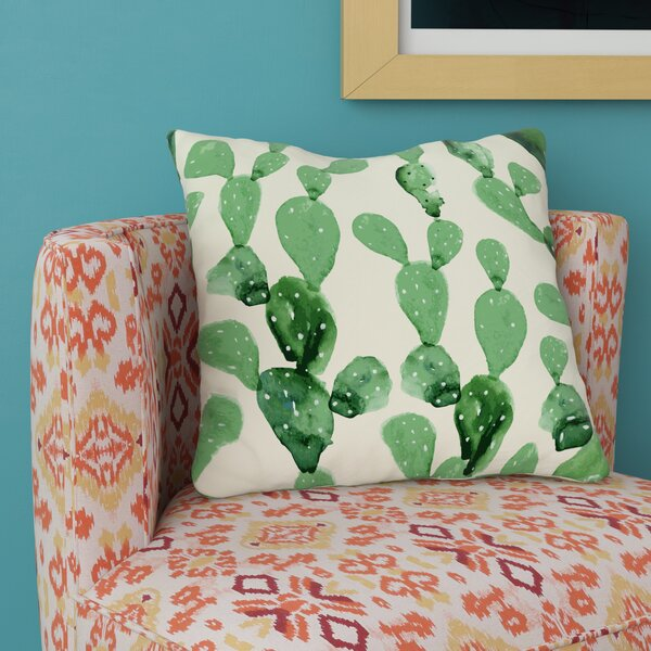 Soren Brunelle Cactus Columns Throw Pillow by Mistana