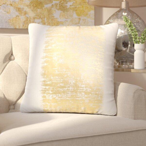 Garlan Metallic Banded Cotton Throw Pillow by Willa Arlo Interiors