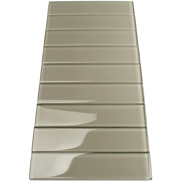 Contempo 2 x 8 Glass Subway Tile in Sage by Splashback Tile