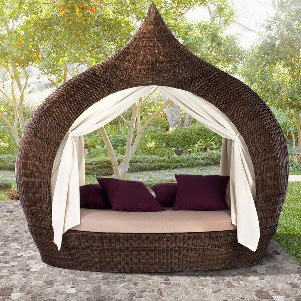 Salley Double K.D. Daybed with Canopy and Cushion