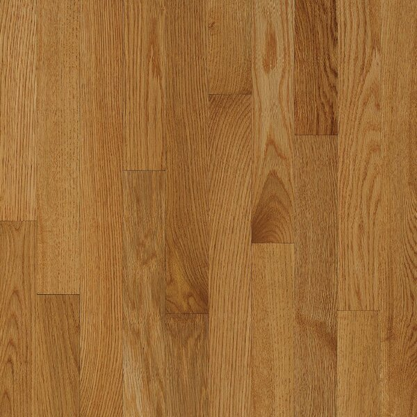 2-1/4 Solid Oak Hardwood Flooring in Low Glossy Desert Natural by Bruce Flooring