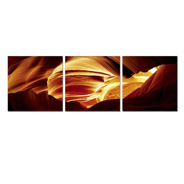 Antelope Caves 3 Piece Photographic Print Set by Furinno