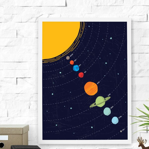 Linear Solar System Framed Art by Dilemma Posters