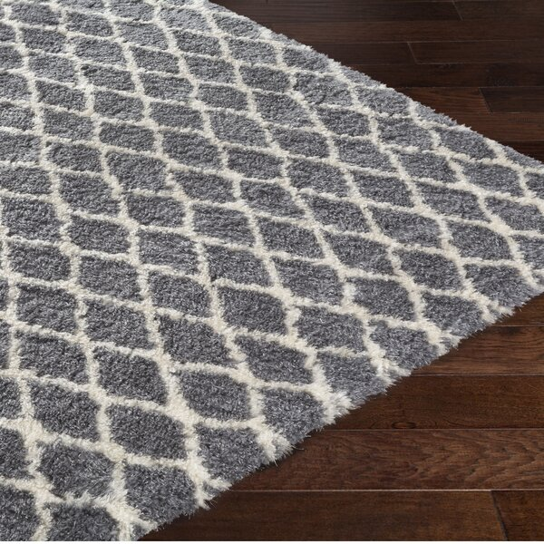 Rechanoi Trellis Gray/Beige Area Rug by Trent Austin Design