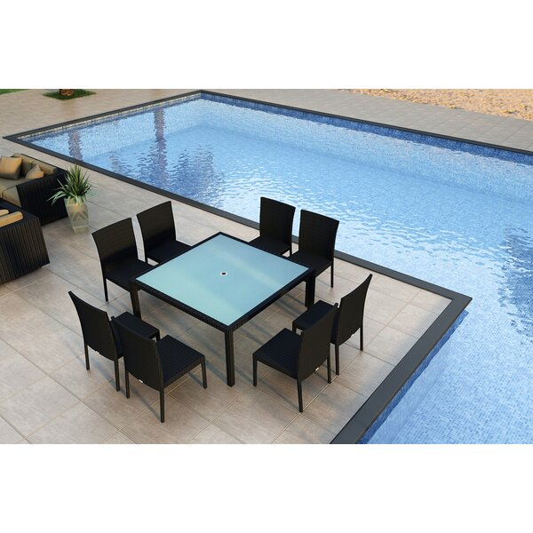 Urbana 9 Piece Sunbrella Dining Set by Harmonia Living