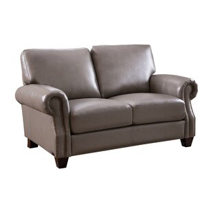 Whipton Leather Loveseat