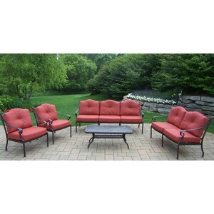 Berkley 5 Piece Deep Seating Group with Cushions Oakland Living