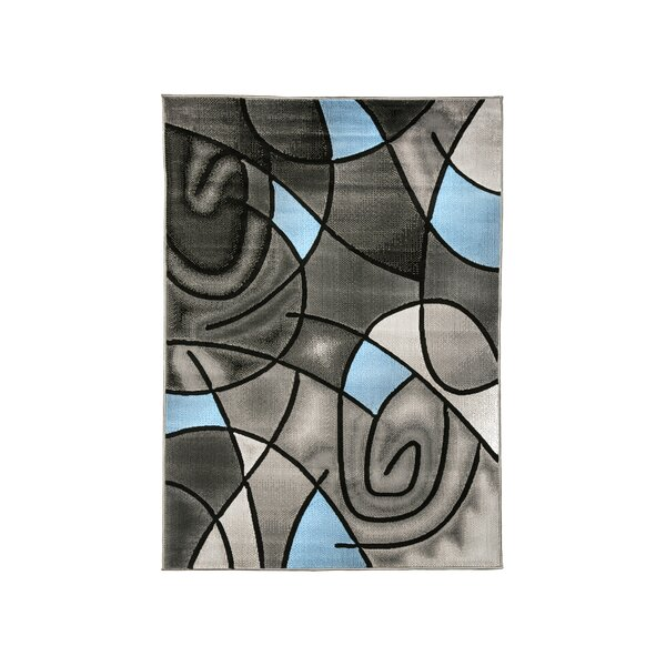 Mahle Charcoal/Blue Area Rug by Ivy Bronx