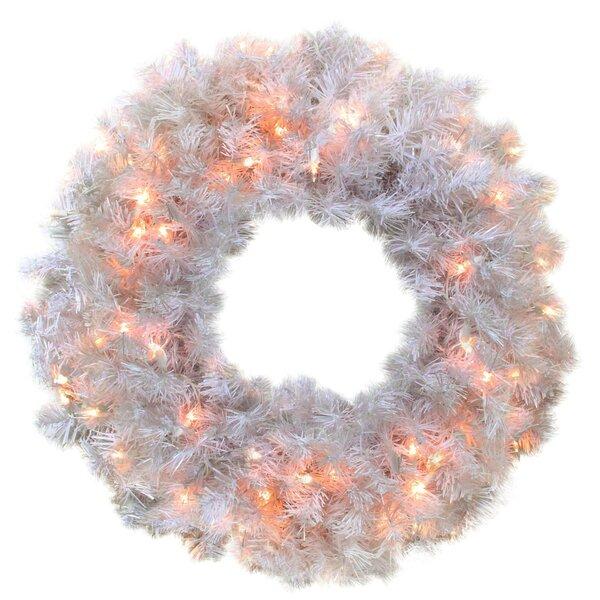 24 Lighted Artificial Cedar Pine Christmas Wreath by Northlight Seasonal