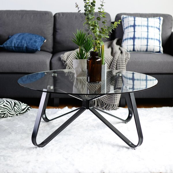Shea Cross Legs Coffee Table By Orren Ellis