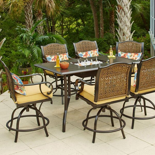 Sierra 7 Piece Bar Height Dining Set with Cushions by Bay Isle Home