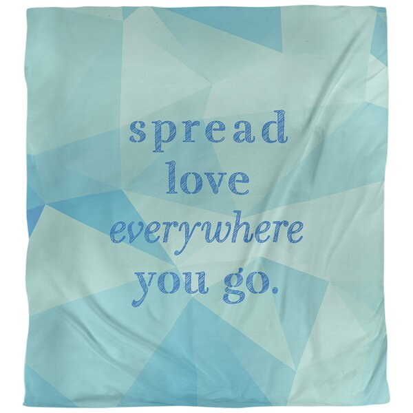 Spread Love Quote Single Duvet Cover