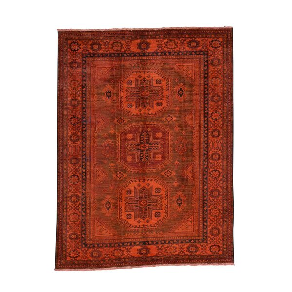 One-of-a-Kind Tilomar Hand-Knotted Burnt Orange Area Rug by Millwood Pines
