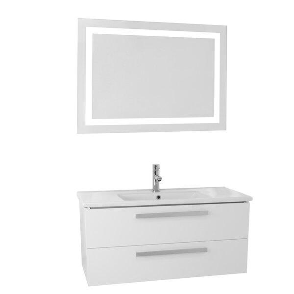Libertyville 38 Wall-Mounted Single Bathroom Vanity Set with Mirror