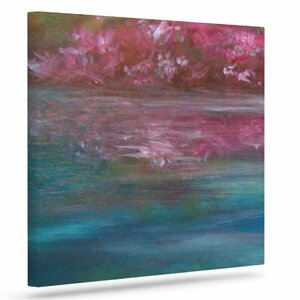 'Bougainvillea Reflections' Print on Canvas by East Urban Home