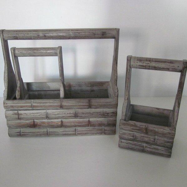 Wood Planter Box Set (Set of 2) by Screen Gems