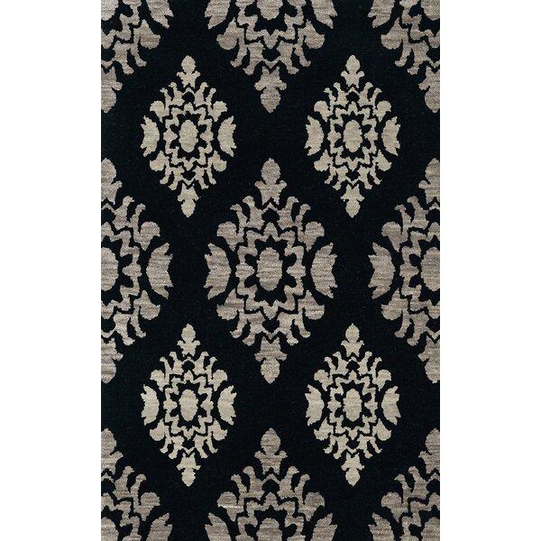 Bella Machine Woven Wool Black/Gray Area Rug by Dalyn Rug Co.