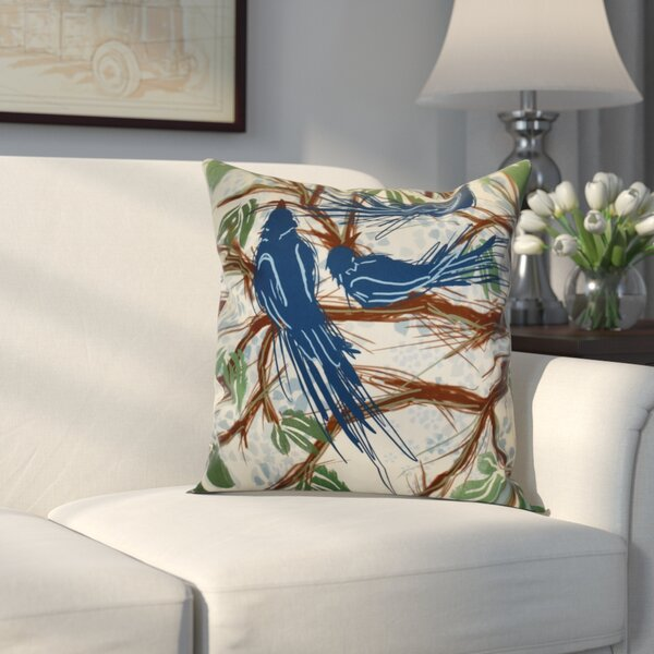 Miller Floral Throw Pillow by Alcott Hill