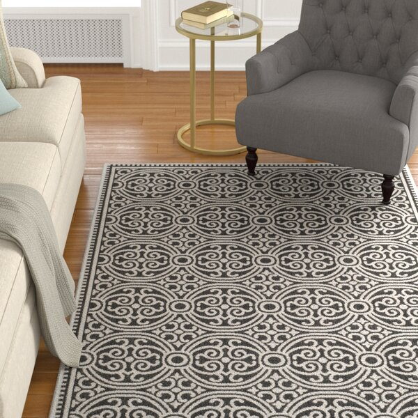 Burnell Light Gray Area Rug by Darby Home Co
