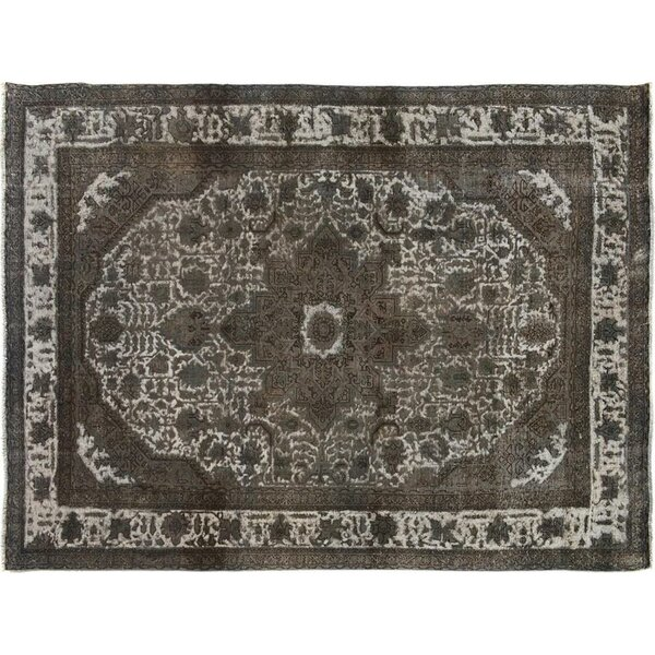 Badillo Hand-Knotted Wool Gray Area Rug by Bloomsbury Market