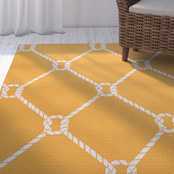 Bridgeport Yellow Indoor/Outdoor Area Rug by Beachcrest Home