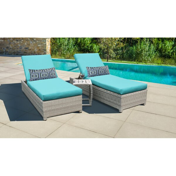 Waterbury Sun Lounger Set with Cushions and Table by Sol 72 Outdoor Sol 72 Outdoor
