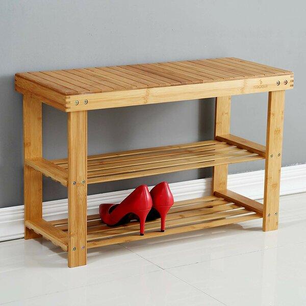 Bamboo 9 Pair Shoe Storage Bench